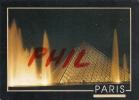 Paris -La Pyramide Du Louvre, La Nuit - Ref 1107-331/32 - Paris By Night