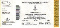 2011 IIHF World Championship Division I Budapest Ice Hockey Ticket Billet - Eishockey
