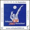 VOLLEYBALL - GERMANIA 2003 - ADESIVO CAMPIONATI EUROPEI MASCHILI DI PALLAVOLO - Autocollants