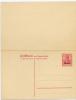 Germany, Besetzungsgebiete 1914-18 Etappe West  Germania Doppelkarte Blanko