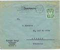 Germany, Danzig, Letter From DAnzig To Dieppe France 1929, Nice Cancel: Benutz .., Backside Roll Cancel Dieppe - Dantzig