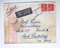 Lettre AVION TP Col Ouvert TIELT 1943 Vers Allemagne - Censure KOLN - TARIF PREF 1F 50 + 50 C Avion --  B7/695 - Brieven