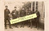 TRUGNY  CARTE PHOTO MILITAIRE  SOLDATS POSANT  N°43 SUR PATTE DE COL - France