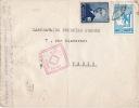 4352# TURQUIE LETTRE CENSURE EGYTIENNE EGYPTIAN CENSORSHIP POSTAL CENSOR Pour PARIS TÜRKIYE - 1921-... République