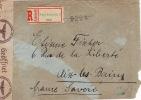 4355# HONGRIE LETTRE RECOMMANDEE CENSURE ALLEMANDE Obl NAGYKANIZSA 1943 MAGYARORSZÁG AIX LES BAINS SAVOIE - Lettres & Documents