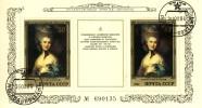 Bo170 - URSS 1984 - Bloc 170 (YT) Avec Empreinte 'PREMIER JOUR'- Musée Ermitage Peinture Anglaise : Thomas Gainsborough - Machine Stamps (ATM)