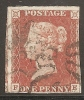Grande-Bretagne (GB) Victoria 1841 - Penny Rouge Planche 41 FE Avec MX - 1840-1901 (Viktoria)