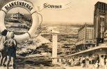 CPSM BLANKENBERGE. Souvenir De Blankenberge. Plage Baigneurs, Bouee, - Blankenberge