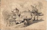SAINT MALO (35)  BEAU DESSIN Des Remparts Et Du Chateau  020811 - Saint Malo