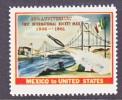 U.S. ROCKET MAIL Anniv. 1961  Mexico To U.S.  Label * - 3b. 1961-... Unused