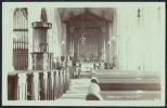 """Abbotsbury Church"" Interior,  Real Photo,  C1935. - Unclassified"