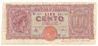 100 Lire Luogotenenza 1944 Serie Sostitutiva W107 - 100 Lire