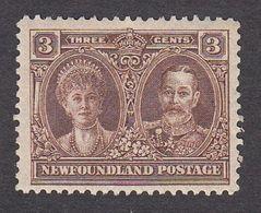 Newfoundland 1928 3c Brown Pf 14 SG 166  MH - 1908-1947