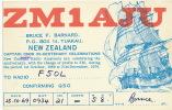 QSL Card Radio Amateur Bruce F. Barnard Tuakau 1970 Voilier ZM1AJU - Nouvelle-Zélande