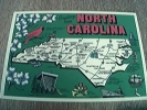 Postcard Unused North Carolina Map Card - Etats-Unis
