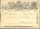 G0412 Belgique Entier De Templeuve à Anvers 1873 - Postwaardestukken