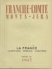LA FRANCE TOURISTIQUE,THERMALE,CLIMATIQUE. 1947. FRANCHE - COMTE,MONTS DU JURA. - Franche-Comté