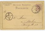 Reich: Postkarte 1879   Tesdorf Gebrüder Hamburg -> Berlin - Germania