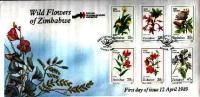 ZIMBABWE 1989 FDC Wild Flowers 400-405 - Plants