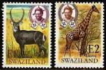 SWAZILAND 1975 MNH Stamp(s) Animals 218-219 # 6631 - Swaziland (1968-...)