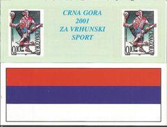 CG 2001 HANDBALL, MONTENEGRO CRNA GORA, BOOKLET, MNH - Handball