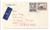 1949 Kenya/Uganda.Tanganyika Double Franked Lushoto Tangan Terr To-?-Switz - Africa (Other)