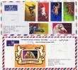 1972  Horses  IMPERF  Stamps And Souvenir Sheet On 2 FDCs - Umm Al-Qiwain