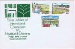 1975  International Commisssion On Irrigation And Drainage   Unaddressed FDC - Zambia (1965-...)