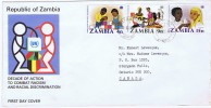 1977 Decade Of Action To Combat Racism And Racial Discrimination  FDC - Zambia (1965-...)