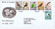 1977 Birds Of Zambia  FDC - Zambia (1965-...)