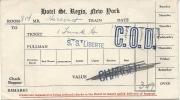 TICKET BAGAGE S.S LIBERTE - Billets D'embarquement De Bateau
