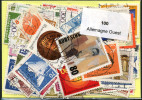 Lot 100 Timbres Allemagne Ouest - Vrac (max 999 Timbres)