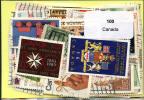 Lot 100 Timbres Canada - Vrac (max 999 Timbres)