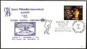 ATHLETICS - U.S.A. HUNT VALLEY 1991 - BALPEX ´91 SALUTES SPORTS PHILATELISTS INTERNATIONAL - DISCUS THROWER - Atletica