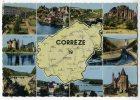 19  -  CORREZE   -  CARTE GEOGRAPHIQUE  -  CPM ANNEE 1950/60 - France