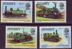 ( 1490 ) Jersey - Trains  Jersey  Eastern Rallway . - Trains