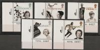 UK - 1996 EUROPA, FAMOUS WOMAN - SG 1935/9 - Yvert  1905/9 - Marginal MINT NH - Sin Clasificación