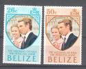 Belize 1973  Mariage De La Princesse  Anne - Belize (1973-...)