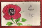 B351 La Bonne Semence,Graines De Roses,Rose En Relief Avec Photo Enfants Au Centre.Circulé Sous Enveloppe En 1931 - Naissance