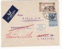 "Syria Damascus Damas Cover To Basel Switzerland; Fiscal Stamp, Label ""Adresse ändern Lassen"" (f90) - Siria"