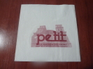"""Serviette Papier """"petit - LA MAISON DES PAINS"""" 10x10cm Pliée - Reclameservetten"""