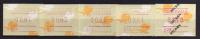 Australie. ATM/ Frama Emis En 1989.  5 T-p Neufs **.   (SANS POST-CODE)  Lezards A Collerettes - Vignettes ATM - Frama
