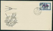 Russia - SSSR - F. D. C. Cover With Stamp With Image Of Ice Hockey And Nice Commemorative Cancel With Cyrillic Text. Int - Hockey (Ice)