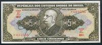 Brésil P 142  5 Cruzeiros 1950  SIGNATURE RARE  *** AUNC *** Série 461 N° 012556 - Brésil