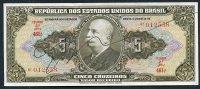 Brésil P 142  5 Cruzeiros 1950 SIGNATURE RARE  *** AUNC *** Série 461 N° 012558 - Brésil