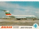 Tzs4772 Jet Tu 134 Bulgarian Airlines Used Perfect Shape - 1946-....: Moderne