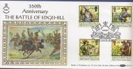 Grande Bretagne - FDC Avec Les Timbres N° 1624/27   Bataille D'Edgehill - FDC