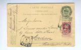 Entier Illustré No 2 + TP Grosse Barbe - TB DESTINATION ANVERS 1905 Vers MEDAN Indes Néerlandaises  -- B7/934 - Ganzsachen