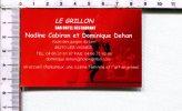 CARTONNETTE PUBLICITAIRE  -  LE GRILLON -  Bar Hôtel Restaurant -  Les Vignes - Placas De Cartón