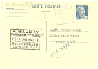 REF LBR 31 - EP CP GANDON 5f  VOYAGEE DAUGUIN CLISSON / PARIS JUIN 1948 - Postal Stamped Stationery